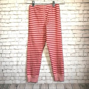Hanna andersson pink red striped pajama bottoms